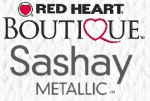 Red Heart (Boutique) Sashay Metallic sálfonalak
